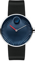 Movado 40mm Edge Watch with Rubber Strap, Navy