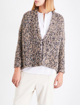 Brunello Cucinelli Sequin-embellished alpaca-blend cardigan
