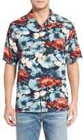 Tommy Bahama Men's Lagoon Lotus Original Fit Silk Camp Shirt