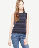 Ann Taylor Petite Texture Stitch Shell