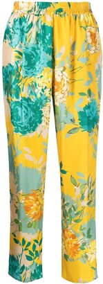 Gianluca Capannolo Mila floral print silk trousers