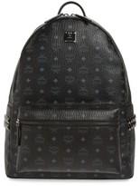 MCM Men's Large Stark Studded Side Backpack - Black