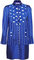 Jiri Kalfar Navy Blue & White Stripe Shirt Dress