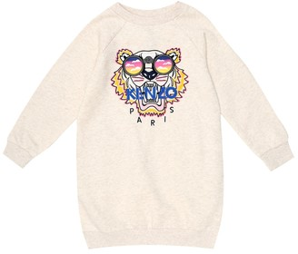 Kenzo Kids Logo cotton-blend jersey dress