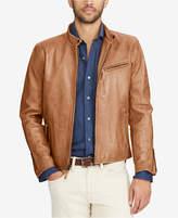 Polo Ralph Lauren Men's Cafe Racer Leather Jacket