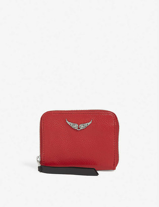 Zadig & Voltaire Grained leather purse