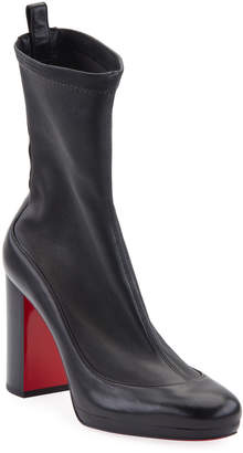 Christian Louboutin Contrevent Stretch Red Sole Booties