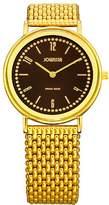 Jowissa Women's J4.034.M Nuoro Gold PVD Slim Brown Dial Steel Watch