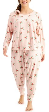Jenni Plus Size Scrunchie & Pajamas 3pc Set, Created for Macy's