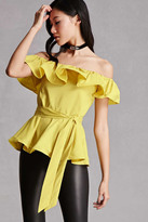 Forever 21 FOREVER 21+ Off-the-Shoulder Ruffle Top