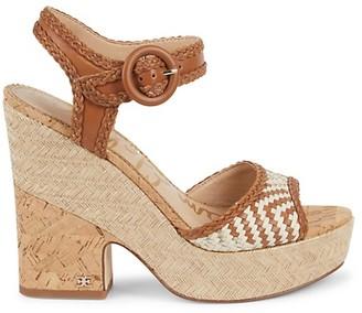 Sam Edelman Lillie Woven Cork Platform Sandals