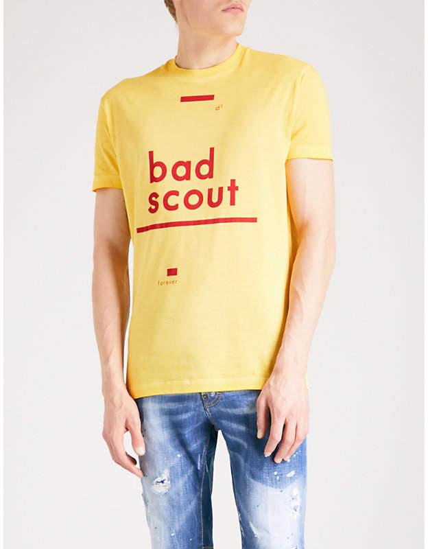 DSQUARED2 Bad Scout-print cotton-jersey T-shirt