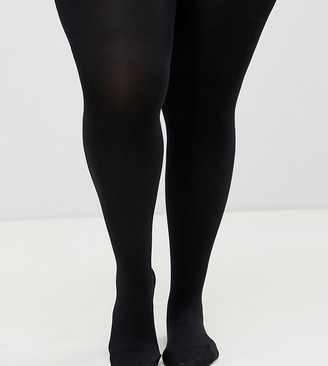 ASOS DESIGN Curve 120 denier black tights