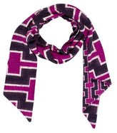 Diane von Furstenberg Abstract Printed Wool Scarf