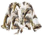 O'Neill Palm Print Tie Front Top