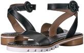 Bernardo Alexis Sandal (Black Antique Calf) Women's Sandals