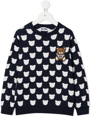 MOSCHINO BAMBINO Teddy Bear jacquard knit jumper