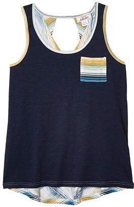 Ariat Serape Sea Tank Top (Navy) Women's Clothing