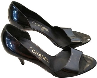 Chanel Black Patent leather Heels