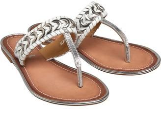 Ravel Womens Desoto Leather Flat Mule Sandals White