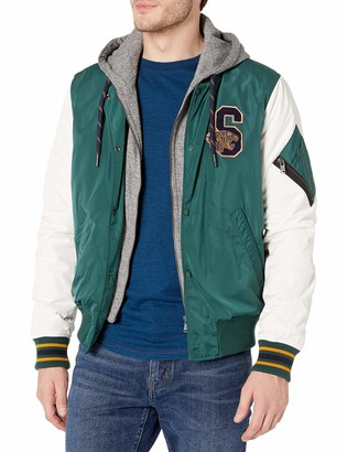 Superdry Men's Varsity Hooded Bomber Jacket
