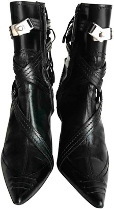 Giuseppe Zanotti Black Leather Ankle boots