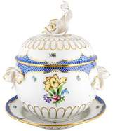 Herend Printemps Dolphin Tureen with Tray