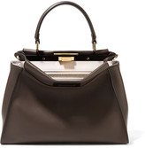 Fendi Peekaboo Medium Leather Tote - Brown