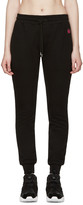 McQ by Alexander McQueen Black Embroidered Lounge Pants
