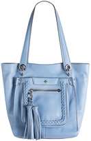 Oryany Sky Blue Leather Erica Tote