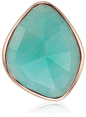 Monica Vinader Siren Nugget Cocktail Amazonite ring