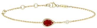 Boucheron Yellow Gold, Diamond and Carnelian Serpent Boheme Bracelet