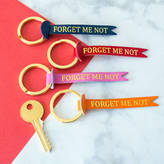 Berylune Forget Me Not Leather Keyring