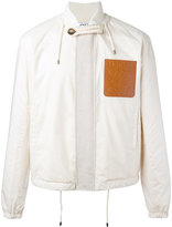 Loewe strings detail bomber jacket - men - Cotton/Leather/Polyester - 48