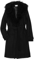 Julie Haus Shearling-trimmed wool trench coat