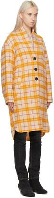 Etoile Isabel Marant Beige & Yellow Gabriel Coat