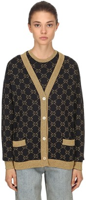 Gucci GG SUPREME LUREX & COTTON KNIT CARDIGAN
