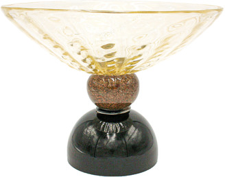 Martinuzzi Venezia 24k Gold Murano Glass Bowl