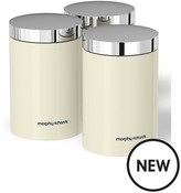 Morphy Richards Accents Set Of 3 Storage Canisters – Ivory