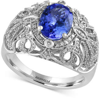 Effy Tanzanite Royale by Tanzanite (1-3/4 ct. t.w.) and Diamond (1/3 ct. t.w.) Ring in 14k White Gold
