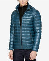 Calvin Klein Men's Big & Tall Packable Hooded Down Jacket With Zip-Up Collar
