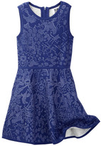 Milly Minis Floral Jacquard Fit & Flare Dress (Big Girls)