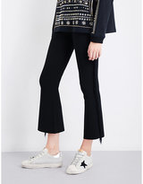 Opening Ceremony Split-cuff flared cropped high-rise knitted trousers