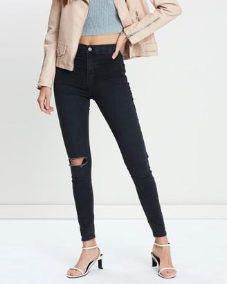 Topshop Ripped Joni Jeans