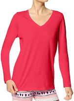 Hue Solid Long Sleeve V-Neck Tee