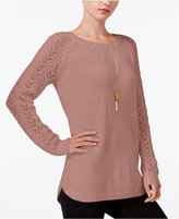 Maison Jules Pointelle Sweater, Only at Macy's