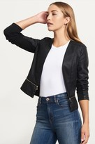 Dynamite Faux Leather Jacket With Zipper