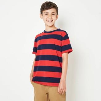 Cat & Jack Boys' Striped Short Sleeve T-Shirt - Cat & JackTM Red/Navy