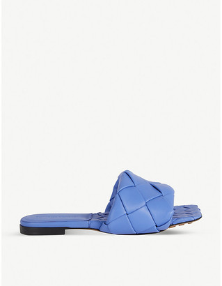 Bottega Veneta Lido Intrecciato flat leather sandals