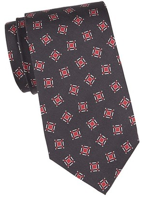Isaia Square Dot Silk Tie